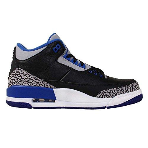 Nike Air Jordan 3 Retro Sport Blå Læder Sneaker Sort 1Z3Wmv