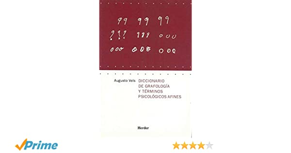 Diccionario de grafología y términos psicológicos afines: Amazon.es: Augusto Vels: Libros