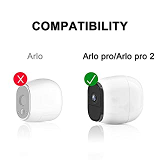 Silicone Skins Cover Protective Skin for Arlo Pro, Arlo Pro 2 Smart Security Wire-Free Cameras 4 Pack (Black)