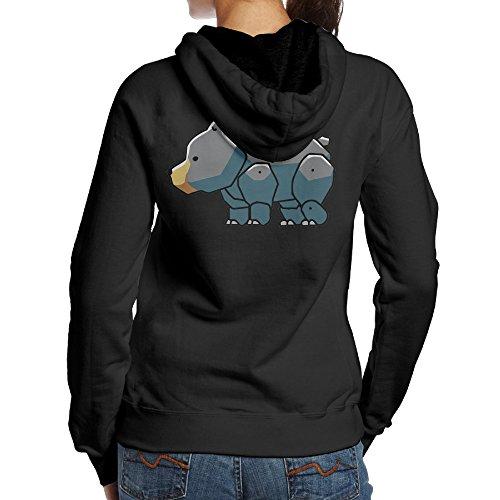 Fifth Costumes Blue Harmony (SBPZEB Black Bear Cute Sport Women's Hooded Sweatshirt M)