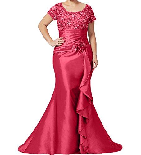 Abendkleider Damen Brautmutterkleider Wassermelon Schnitt Schmaler Charmant Langes Rock Trumpet Damen Formalkleider Ballkleider Spitze aIdqqxFp