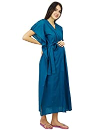 Bimba Nursing Mothers Cotton Kaftan Night Wear, Hospital Delivery Caftan Gown