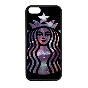HipsterOne Nebulas Galaxy Starbucks Coffee Logo Case for iPhone 5s,5 (TPU Laser Technology) Custom Phone Cover