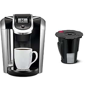 keurig k475 coffee maker black and keurig 119367 2 0 my k cup reusable coffee. Black Bedroom Furniture Sets. Home Design Ideas