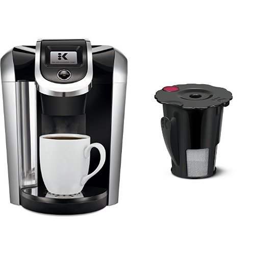 Keurig K475 Coffee Maker, Black and Keurig 119367 2.0 My K-Cup Reusable Coffee Filter, Small, Black (Updated Model) Bundle by Keurig
