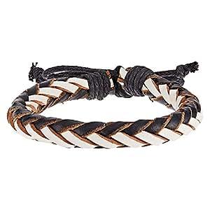 Alwan Leather Bracelet for Men - EE8332BLWT
