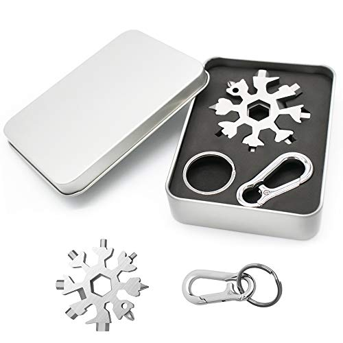 18 in 1 Snowflake Multi Tool, Stainless Portable Gadgets for Men, Best Hand Tools Gift for Him, DIY Handyman for Outdoor…