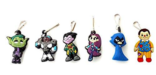 Kids Superboy Costumes (AVIRGO 6 pcs Zipper Pull Charms for Jacket Backpack Bag Pendant Set # 103-2)