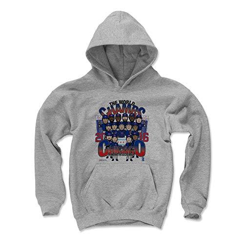 - 500 LEVEL Chicago Chicago Baseball Youth Sweatshirt (Kids Large, Gray) - Chicago World Champs BR