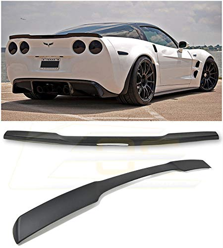 Extreme Online Store for 2005-2013 Chevrolet Corvette C6 | EOS ZR1 Style ABS Plastic Painted Matte Black Rear Trunk Lid Wing Spoiler ()