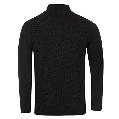 Firetrap ¼ Zip Knit Pull pour homme Bleu marine Pull Top