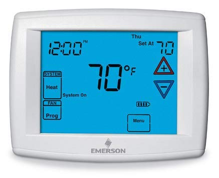 90 Series Programmable, 1H/1C, Blue Digital Touchscreen Thermostat