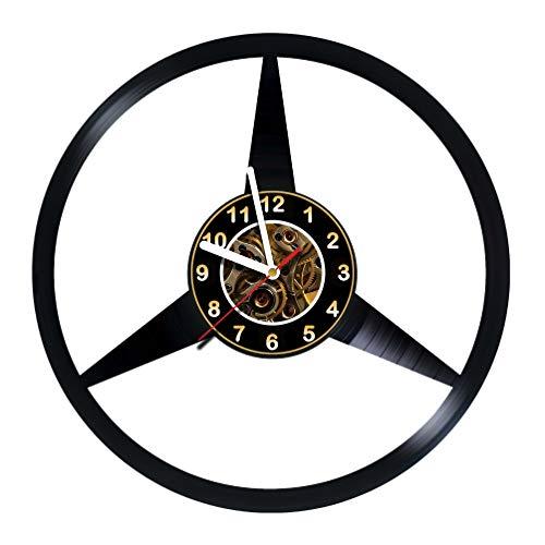 AlinasSHOP Mercedes-Benz - Wall Clock Made of Vinyl Record - Handmade - Unique Design - Great Gifts idea for Birthday, Women, Men, Friends, Girlfriend Boyfriend and Teens, car