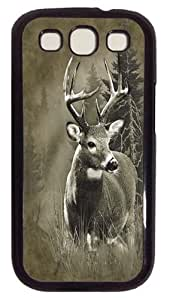 Samsung Galaxy I9300 Case and Cover -Lone Buck Deer PC case Cover for Samsung Galaxy S3 and Samsung Galaxy I9300 Black