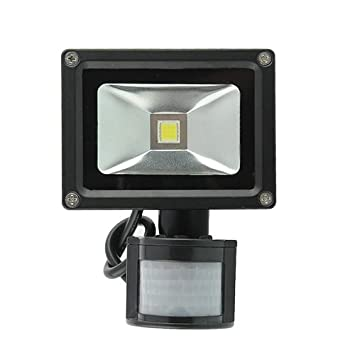 amzdeal® Foco proyector 10W blanco cálido, Lámpara Luz, Foco proyector con iluminación LED