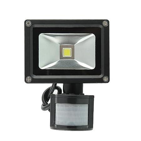amzdeal® Foco proyector 10W blanco frío- Lámpara Luz Foco ...
