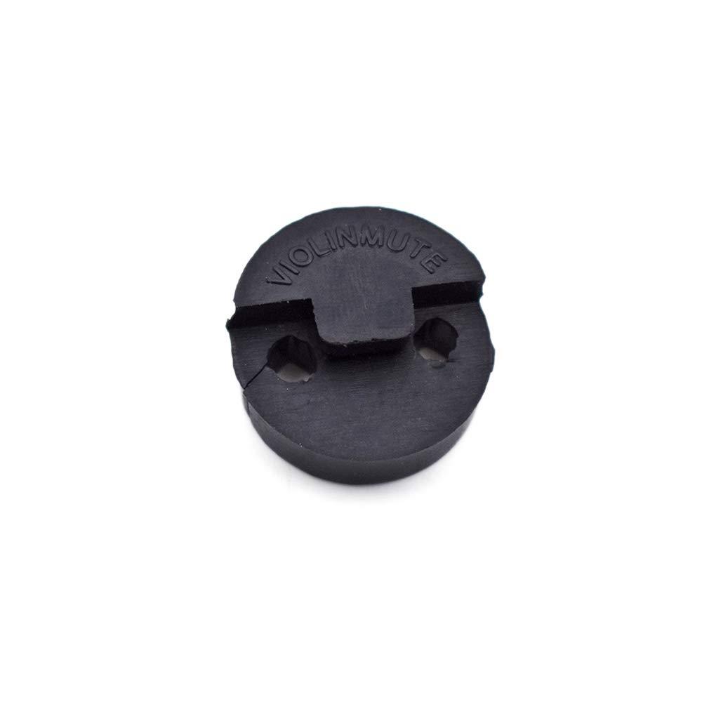 Tcplyn Violin Circular Silencer Sourdine Rubber Silencer Violin Instrument Accessories Black 1 Pcs