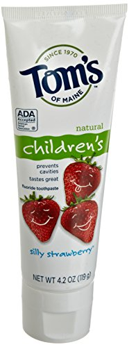 Tom's of Maine Natural Anticavity Fluoride Children's Toothpaste, Silly Strawberry, 4.2 Ounce, 2 Count