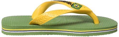 Havaianas Unisex Brasil green Logo erwachsene Grün Bamboo Zehentrenner gUpRwgrxq
