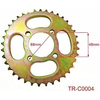41 Teeth 420 Chain Rear Sprocket for 50cc 70cc 90cc 110cc 125cc Dirt Pit Bike Off Road Honda CRF50 XR50