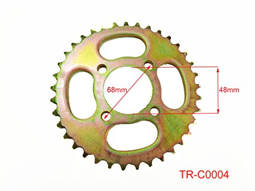 Rear Engine Chain Sprocket 420 37 Teeth for 50cc 90cc 110cc 125cc Chinese ATV Dirt Bike Quad TaoTao Roketa Sunl (Gold)