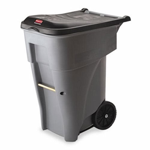 - Rubbermaid Commercial Products BRUTE Rollout Waste/Utility Container, 65-gallon, Gray (FG9W2100GRAY)