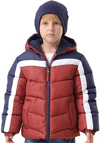 HZXVic Toddler Boys Winter Coat Lightweight,Waterproof Hooded Puffer Jackets for Kids Parka Outerwear