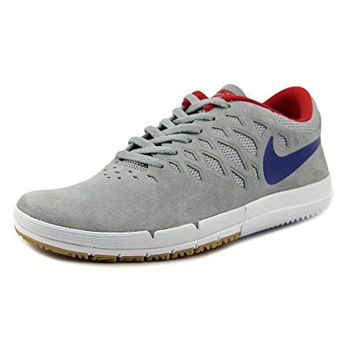 Nike Free SB, Scarpe da Skateboard Uomo Grigio/Blu-rosso (Wolf Grey/Gm Royal-unvrsty Rd)