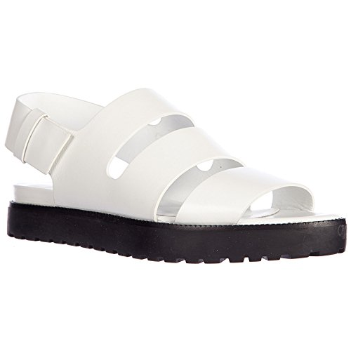 Alexander Women's Leather Wang White Alisha Sandals Z8wO6qF