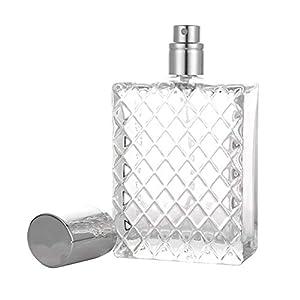 Huemny 100 ML 3,4 oz Bouteilles de Parfum de pulvérisation Rechargeables Grand cosmétique atomiseur à Brume Fine Vide…
