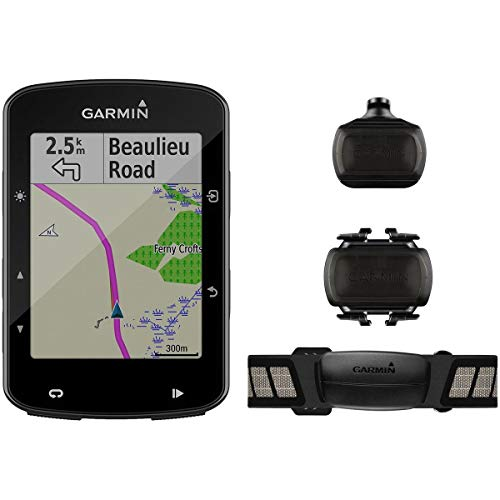 Garmin Edge 520 Plus Speed and Cadence Bundle, GPS Cycling/Bike Computer for Competing and Navigation, Includes Additional Sensors/Heart Rate Monitor - Sensor Wireless Cadence