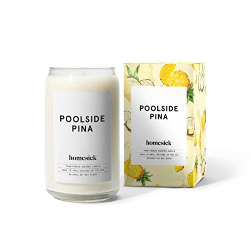 Homesick Scented Candle, Poolside Piña