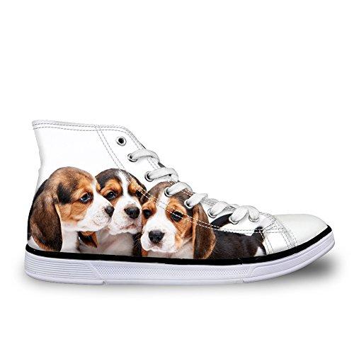 HUGS IDEA HUGSIDEA Pet Dogs Print Cute Canvas Shoes High Top Sneakers For Women Dogs 6 I7Wm3mX