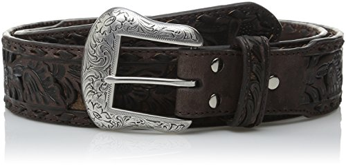 Nocona Belt Co. Men's Brown Wide Floral Buck, 44