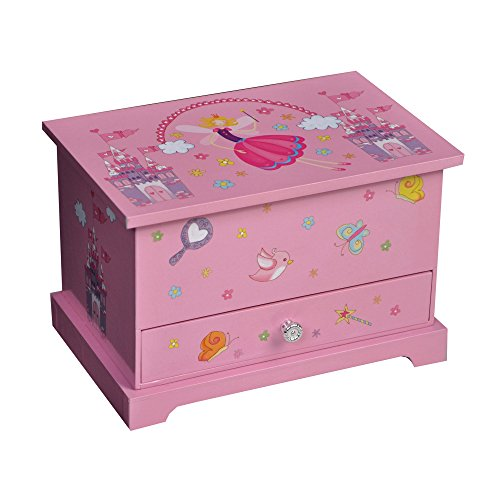 Mele & Co. Kerri Girl's Musical Ballerina Jewelry Box (Castles/Fairy Princess)