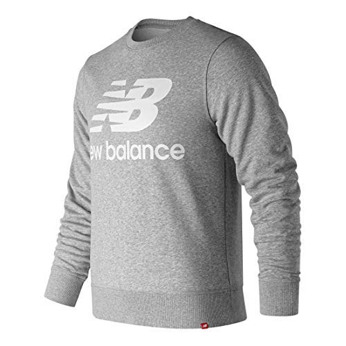 New Balance Essentials Stacked Logo Crew, Athletic GRE, X-Small