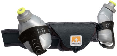 Nathan Speed 2 Hydration Belt, Black, Large by Nathan