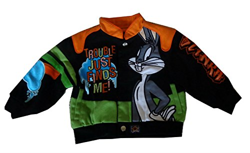 JH Design Kids Looney Tunes Trouble Just Finds Me Twill Jacket 2T