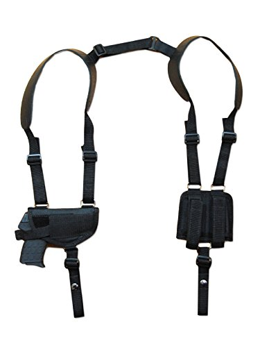 Dbl Rifle (NEW Barsony Gun Shoulder Holster w/ Dbl Magazine Pouch for Walther PP PPKS PPK right)