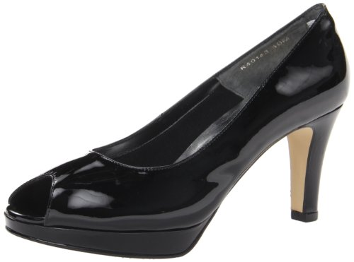 Walking Black Women's Cradles Platform Patent Prom 1xCw61nr7q