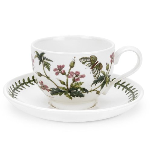 Cup Saucer Herb (Portmeirion Botanic Garden - Cup & Saucer - Herb Robert)