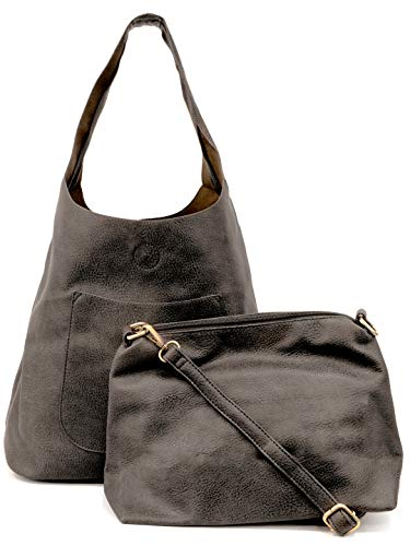 Joy Susan Women's Molly Slouchy Hobo Handbag, Charcoal, One-Size