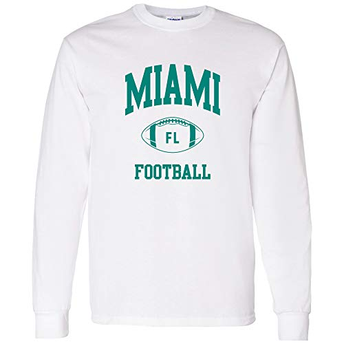 Miami Classic Football Arch - Miami Pride Long Sleeve T Shirt - Large - White]()