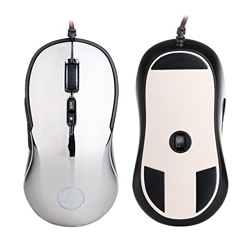 Computer Mouse Silver Plated (LseaM Gaming Mouse Wired USB Optical Computer Mice RGB Backlit with 2500 DPI 7 Buttons 4 Adjustable DPI Levels for PC/Laptop/Desktop/Notebook/Computer (Silvery))