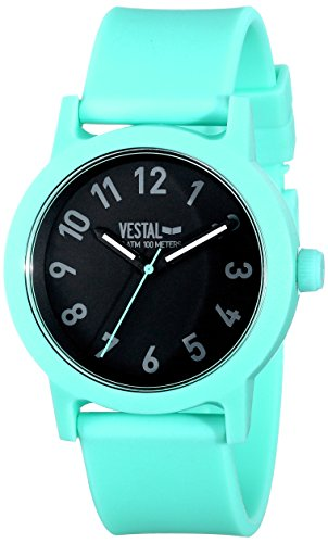 Vestal Men's ALP3P02 Alpha Bravo Plastic Analog Display Japanese Quartz Green Watch