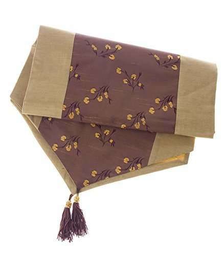 quilted table runner gold - 8