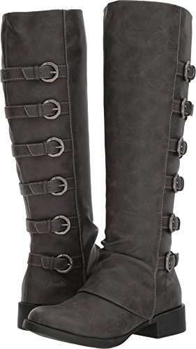 Grey Motorcycle Boots - 7