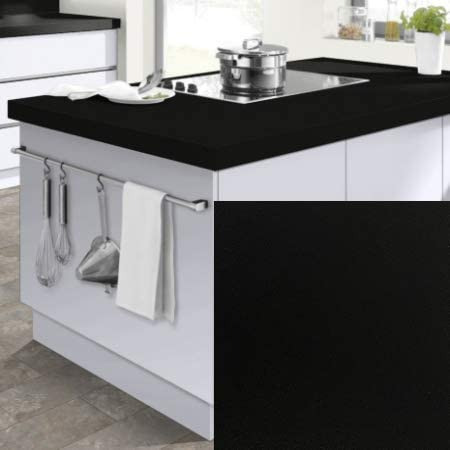 Modulocuisine Plan De Travail Cuisine Noir Brillant 100x60