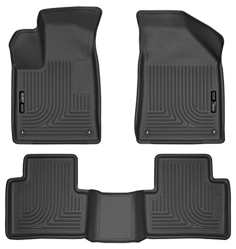 Husky Liners Fits 2015-16 Chrysler 200 Weatherbeater Front & 2nd Seat Floor Mats,Black,99071