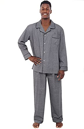 Del Rossa Men's Cotton Pajamas, Long Woven Pj Set at Amazon Men's ...